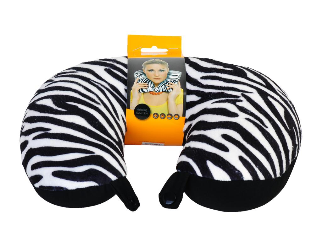 Zebra Print Neck Pillow Naftali Wholesale Travel Accessories