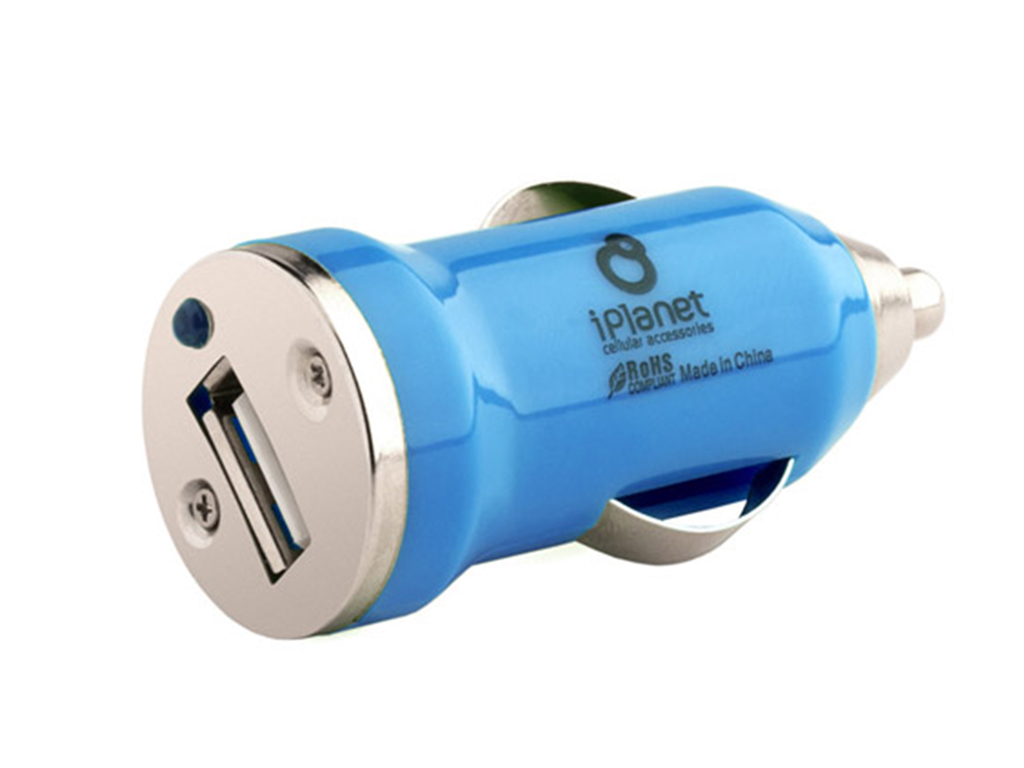 Colored usb car charger - Blue Usb Car Charger Iplanet