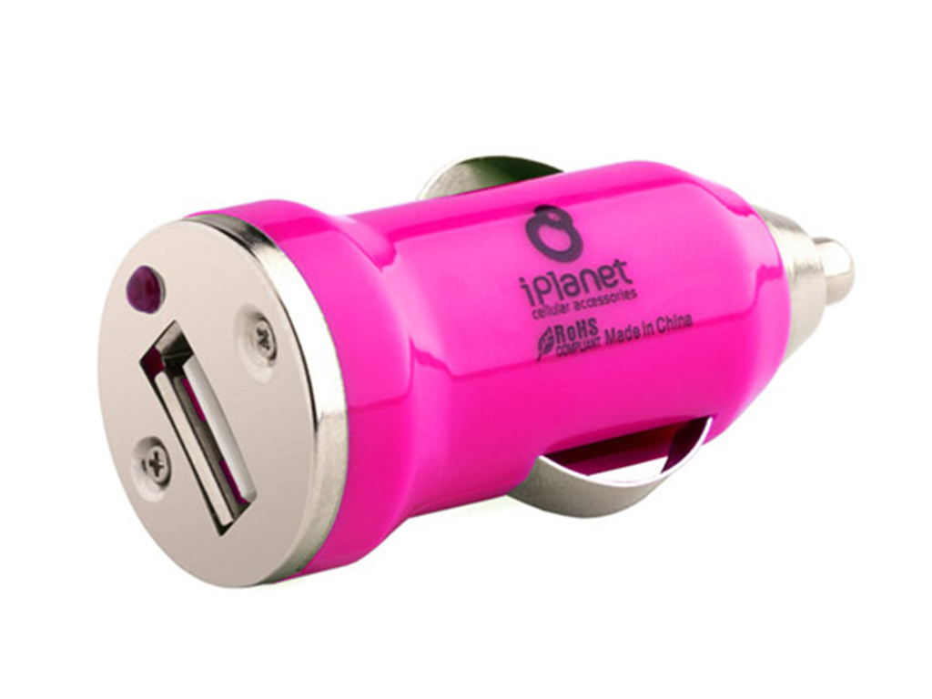 Colored usb car charger - Pink Usb Car Charger Iplanet