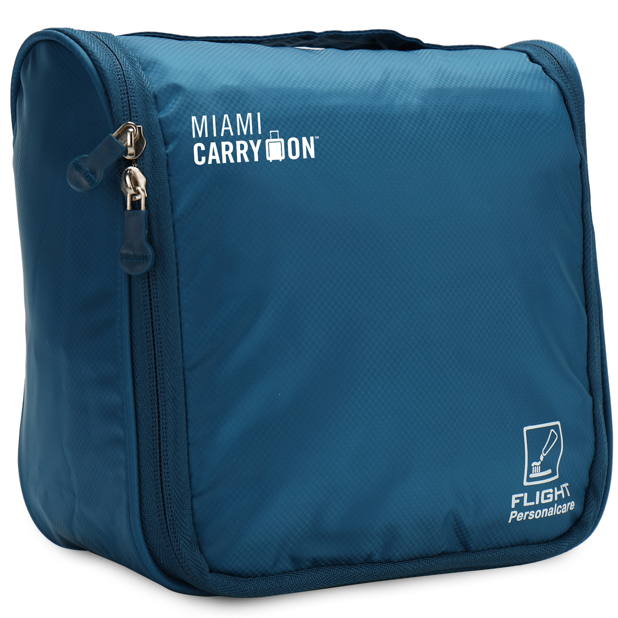 miami carryon water resistant travel smart hanging cosmetic bag navy blue