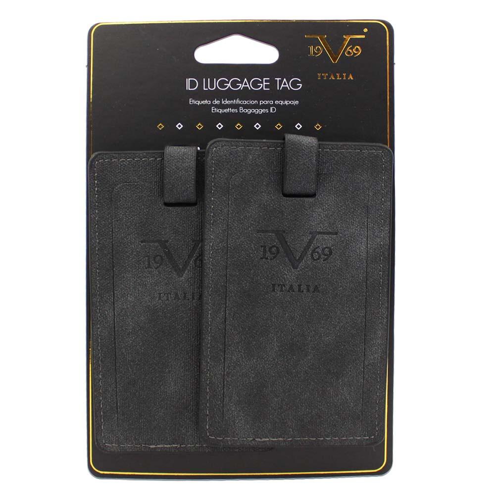V19.69 Italia Luggage ID Tags / Business Card Holder - PU Leather ...