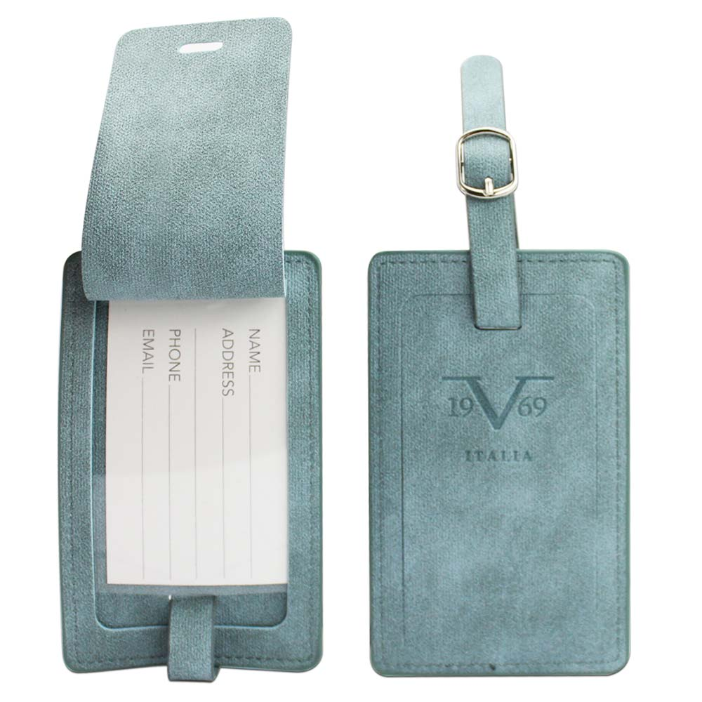9cf6f08047 19V69 Italia Luggage ID Tags   Business Card Holder - Blue (2 Piece ...