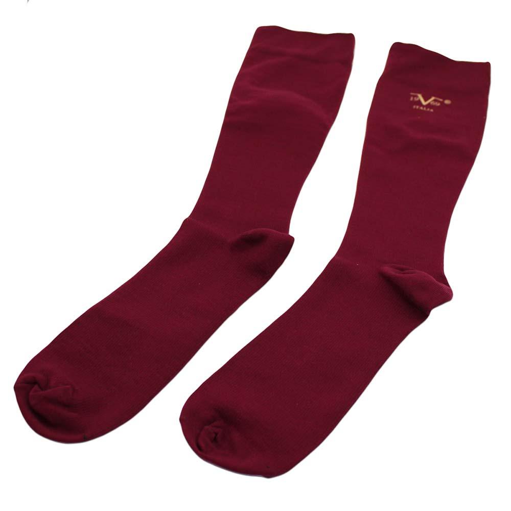 32f71c126a 19V69 Italia Compression Socks for Travel, Diabetic - Dark Red (W 10 ...
