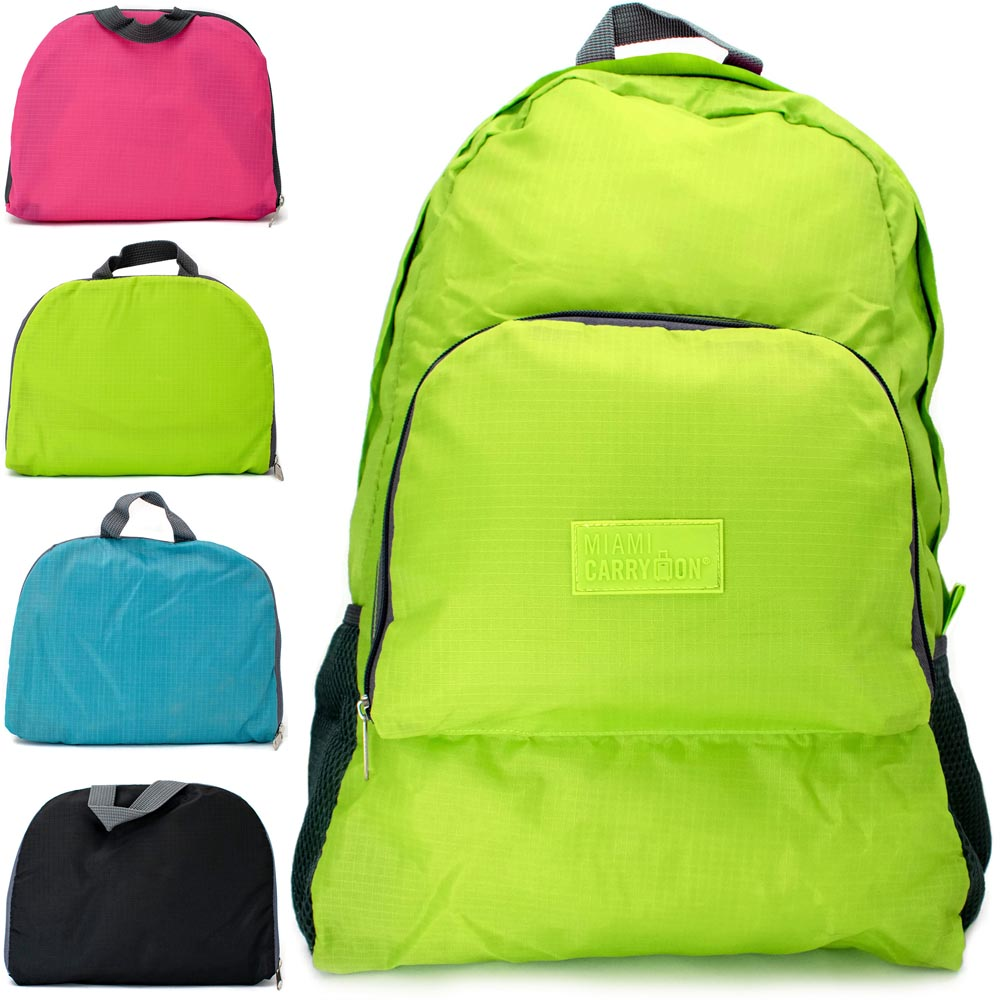 miami carryon travel foldable backpack folds to a compact 9 x 7 x