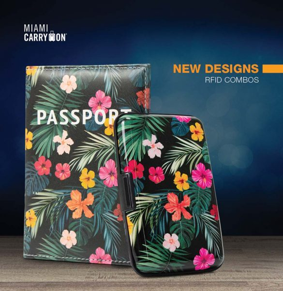 flowers passport cover and wallet